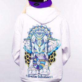 Positive Vibes Ganesha Elephant Hoodie For Women