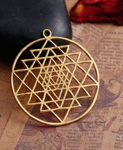 sri yantra gold pendant Meditation