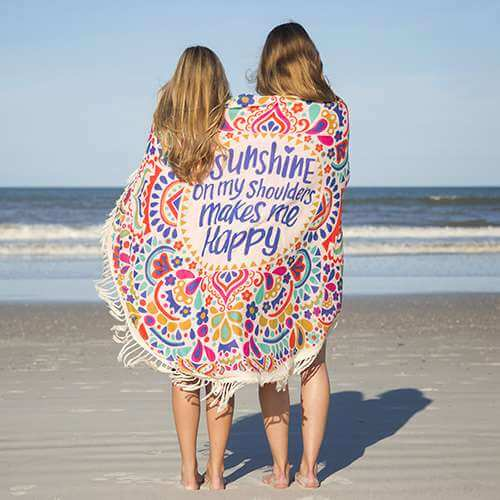 sunshine yoga beach blanket