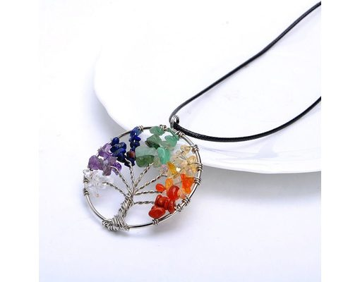 chakra tree of life necklace image
