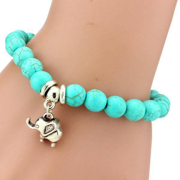 Turquoise Elephant Bracelet Charm