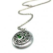 Antique Silver Moola Mantra Necklace