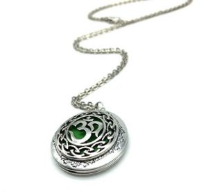 Antique Silver Moola Mantra Necklace