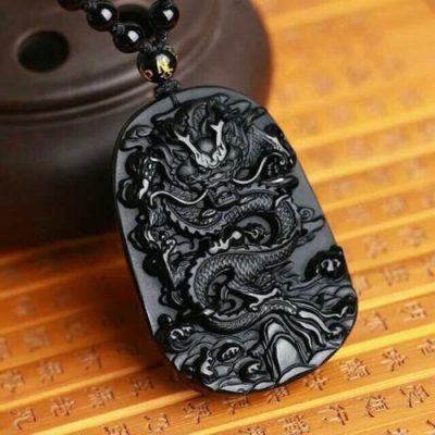 black-obsidian-protective-dragon-carved-necklace