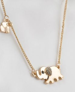 cute elephant family necklace cover image