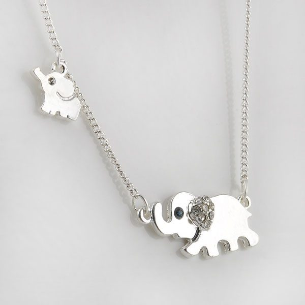 elephant family necklace cover image