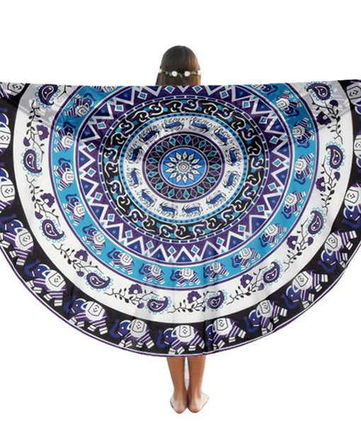 product page about mandala round beach blanket