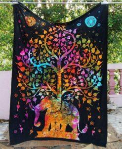 large elephant tree of life tapestry image