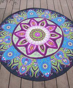 Boho Flower Beach Blanket photo