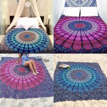 Mandala Chiffon Tapestry Couch Bed Cover