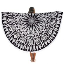round beach blanket black
