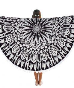 mandala round beach blanket