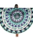 mandala-round-beach-blanket-green