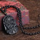 natural-black-obsidian-protective-dragon-carved-necklace