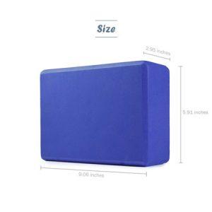 Sturdy foam yoga block size