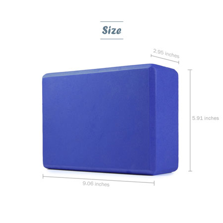 Sturdy foam yoga block size