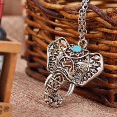 turquoise elephant necklace cover image