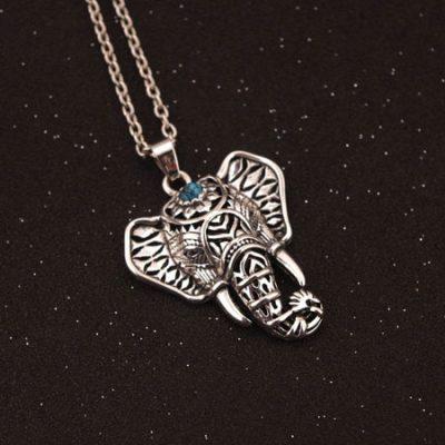 turquoise elephant necklace