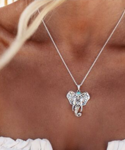 Turquoise Ganesha Elephant Necklace