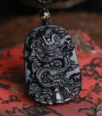 volcanic-black-obsidian-protective-dragon-carved-necklace
