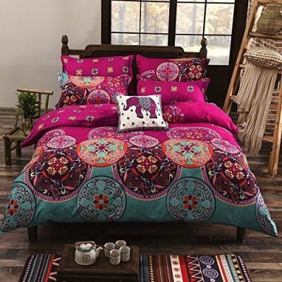 bohemian-style-floral-cover-set