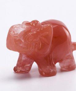 crystal cherry elephant figurine