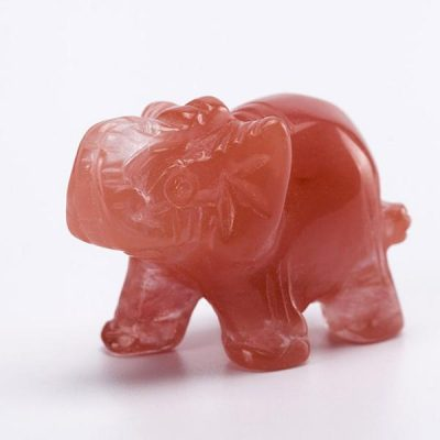 crystal elephant figurine cherry