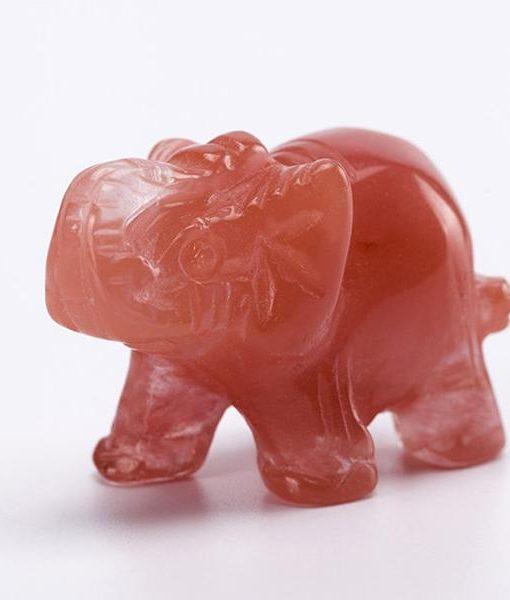 crystal elephant figurine cherry
