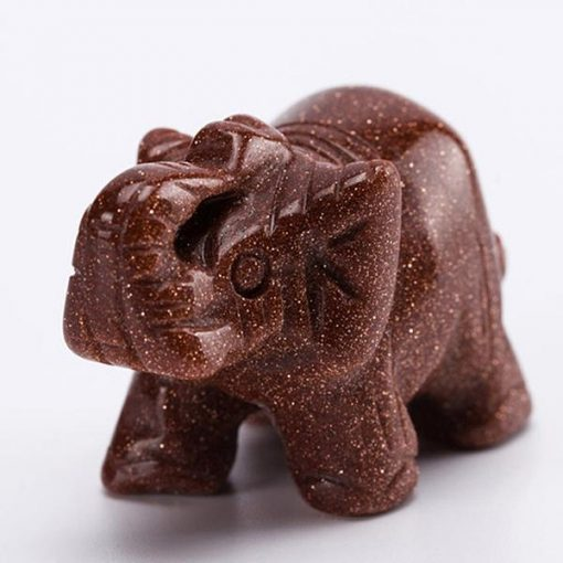 gold sand stone elephant figurine
