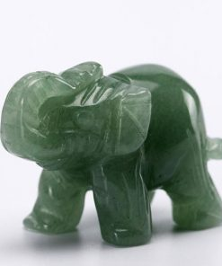 crystal green elephant figurine