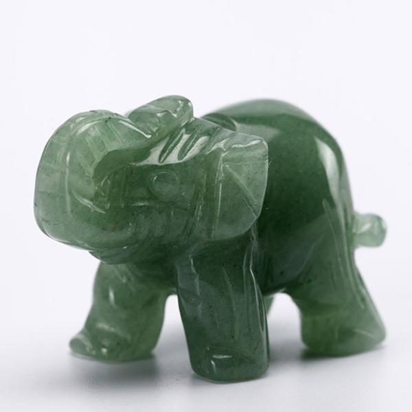 Carved Crystal Elephant Figurines The Yoga Mandala Shop