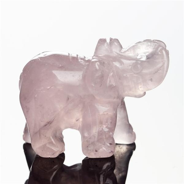 crystal rose elephant figurine