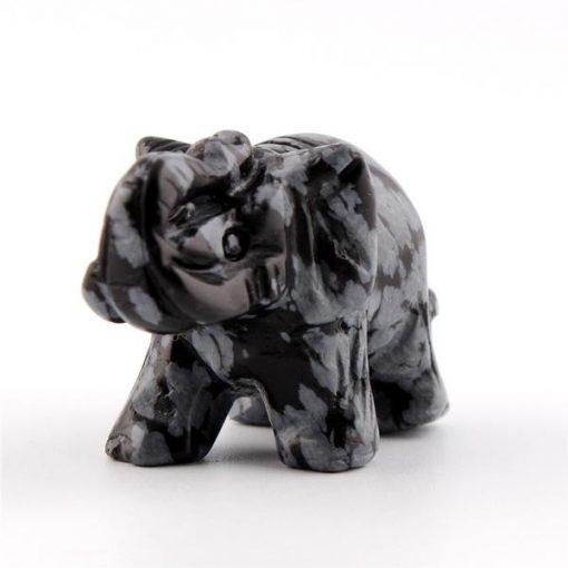 obsidian elephant figurine snowflake
