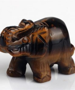 crystal tiger eye elephant figurine