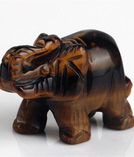crystal elephant figurine tiger eye