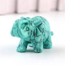 crystal elephant figurine turquoise