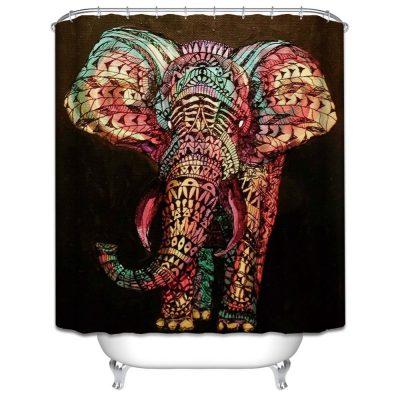 bohemian elephant shower curtain photo cover