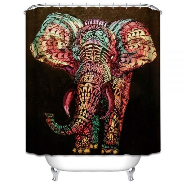 elephant shower curtain image cover