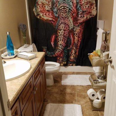 artsy elephant shower curtain photo image