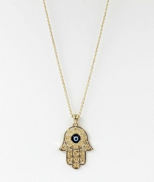 hamsa hand of fatima necklace