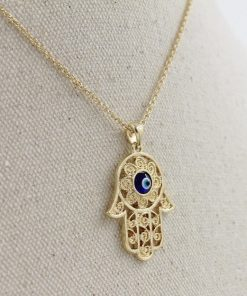 hamsa hand of fatima necklace