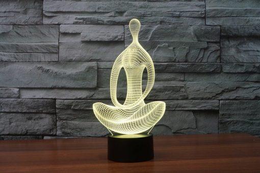 3D Yoga Meditation Lamp