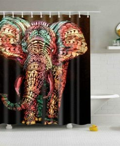 Colorful Elephant Shower Curtain image