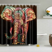 mandala elephant shower curtain cover image