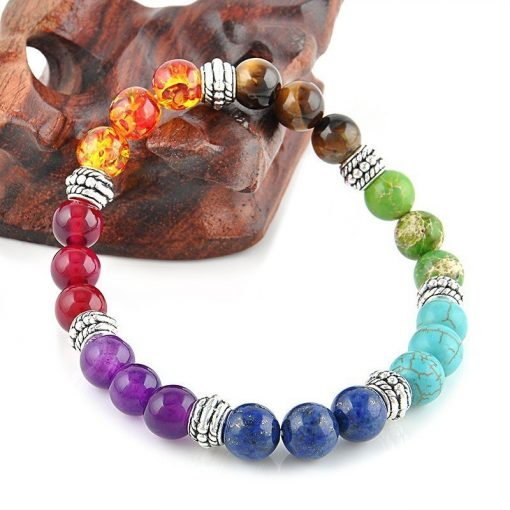 7 chakra healing crystals bracelet cover image
