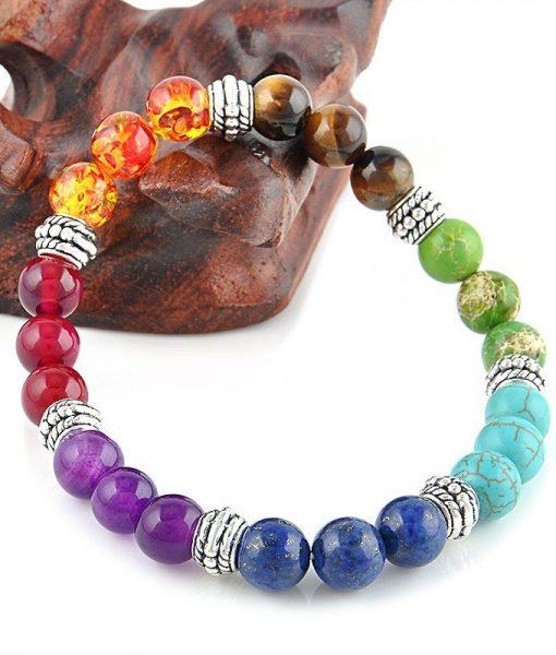 7 chakra healing crystals bracelet cover image