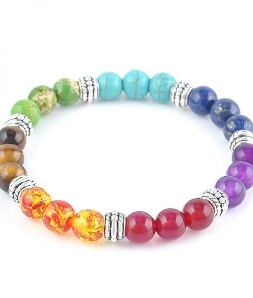 7 chakra healing crystals bracelet image