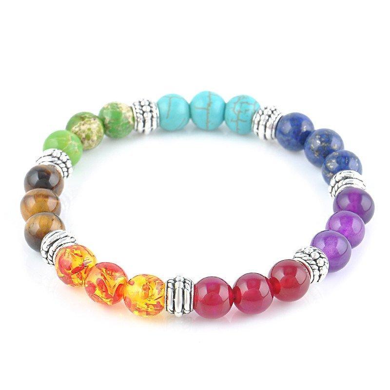 7 chakra healing crystals bracelet the mandala store