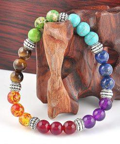 7 chakra healing crystals bracelet
