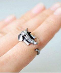 elephant wrap around ring image